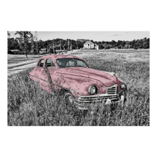 Carro vintage poster