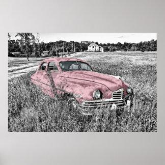 Carro vintage pôster