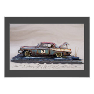 carros clássicos dos anos 50, carros do cemitério poster