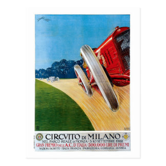 Carros de competência italianos Prix grande do Cartão Postal
