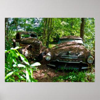 Carros velhos poster