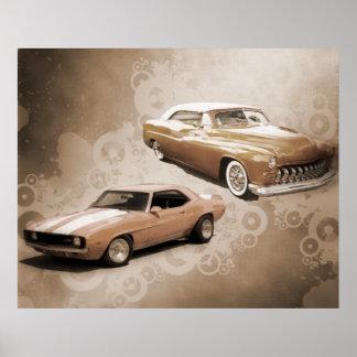 Carros vintage posters