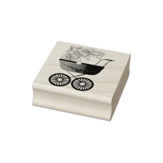 Carruagem do carrinho de criança de bebê carimbo de borracha
