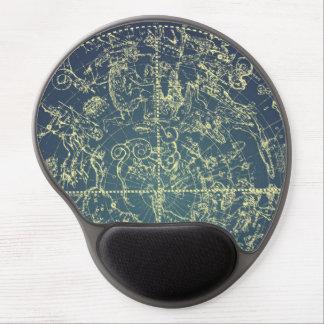 Carta celestial do espaço mouse pads de gel
