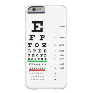 carta da visão do olho de Snellen para o Capa Barely There Para iPhone 6