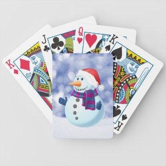 Carta De Baralho Neve do Feliz Natal do inverno do boneco de neve