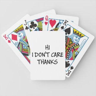 Carta De Baralho Olá! eu não me importo obrigados