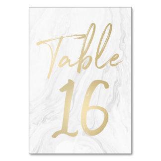 Cartão 16 do número da mesa do roteiro   do