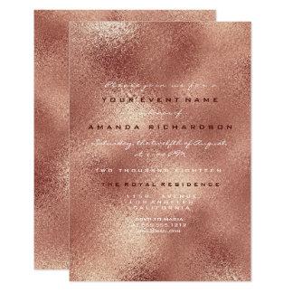 Cartão 16o nupcial mínimo do ouro cor-de-rosa de vidro de