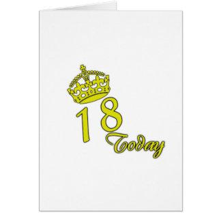 Cartão 18 hoje. Aniversário