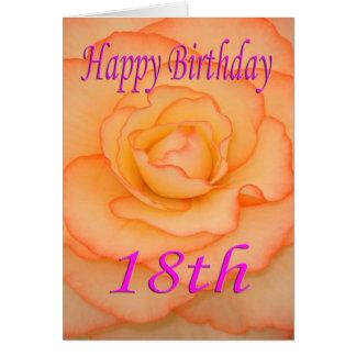Cartão 18a flor feliz do aniversário