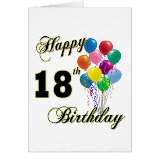 Cartão 18os presentes de aniversário felizes