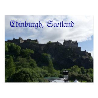 Cartão 1 do castelo de Edimburgo Cartão Postal