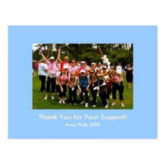 Cartão 2008 da caminhada de Avon Cartao Postal