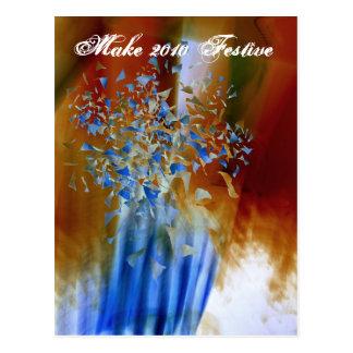 Cartão 2010 festivo cartao postal