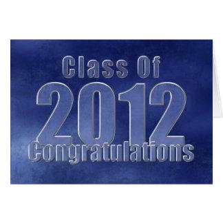 Cartão 2012 azul dos parabéns da graduação do