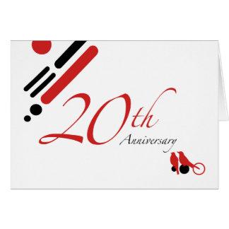 Cartão 20o Aniversário (pássaros da modificação)