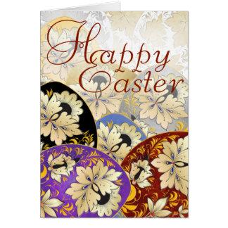 Cartão 23 do ovo da páscoa - arte popular do russo cartão comemorativo