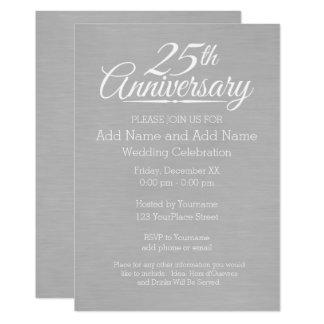 Cartão 25o Aniversário de casamento personalizado