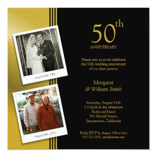Cartão 2 festa de aniversário do casamento do ouro 50th