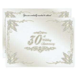Cartão 30o Aniversário de casamento RSVP