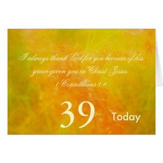 Cartão 39th Aniversário