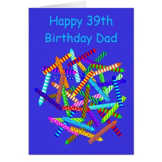 Cartão 39th Presentes de aniversário