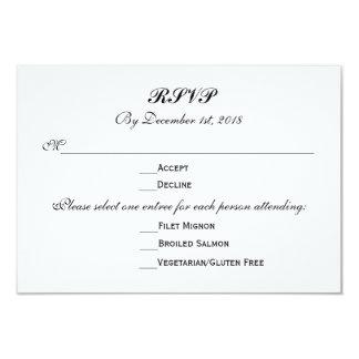 Cartão 3 resposta da resposta do casamento das escolhas