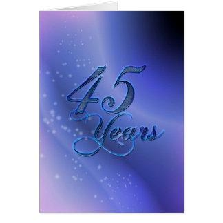 Cartão 45 anos (aniversário)