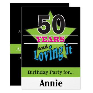 Cartão 50 anos e amor dele! aniversário de | 50th