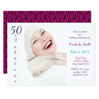 Cartão 50 e costume azul roxo cor-de-rosa fabuloso do
