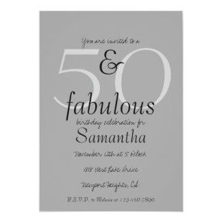 Cartão 50 e fabuloso