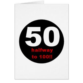 Cartão 50 incompletamente a 100
