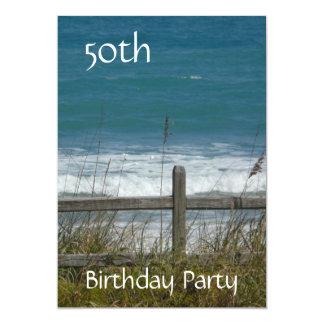 Cartão 50th Celebração-Oceano/homem do aniversário