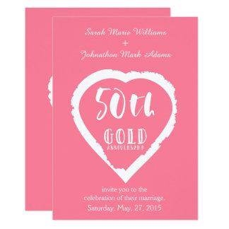Cartão 50th ouro dourado tradicional do aniversário de