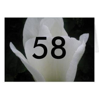Cartão 58th Aniversário