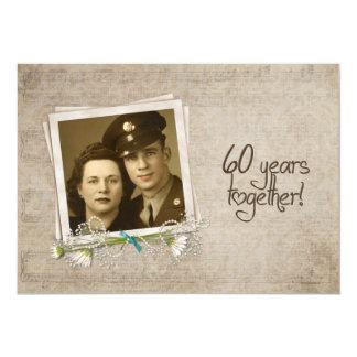 Cartão 60th Casa aberta de aniversário de casamento