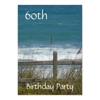 Cartão 60th Celebração-Oceano/homem do aniversário