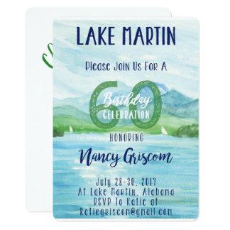 Cartão 60th Fim de semana do lago birthday