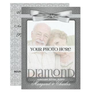 Cartão 60th Foto da festa de aniversário do casamento de