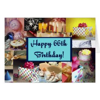Cartão 66th aniversário feliz
