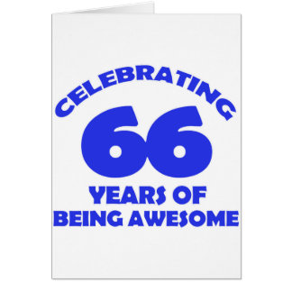 Cartão 66th design do aniversário