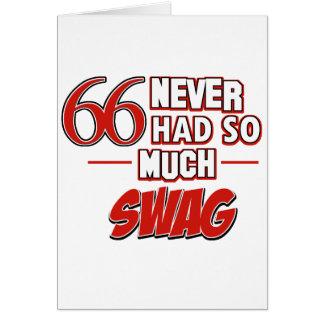 Cartão 66th design do aniversário dos anos de idade