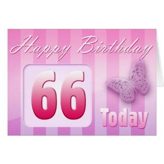 Cartão 66th Excelente-Tia feliz Mamã da avó do