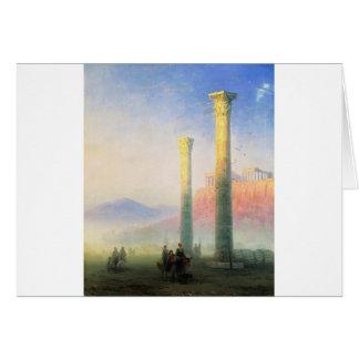 Cartão A acrópole de Atenas por Ivan Aivazovsky