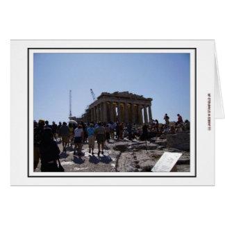 Cartão A acrópole em Atenas, piscina