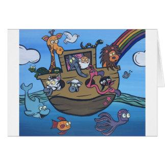 Cartão A arca de Noah