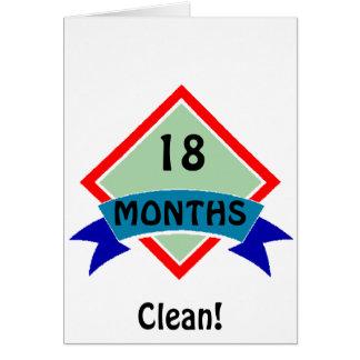 Cartão A bandeira 18 meses limpa