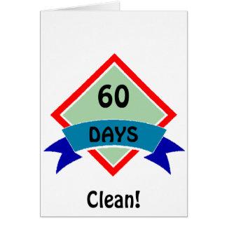 Cartão A bandeira 60 dias limpa