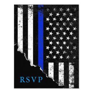 Cartão A bandeira americana denominada polícia RSVP